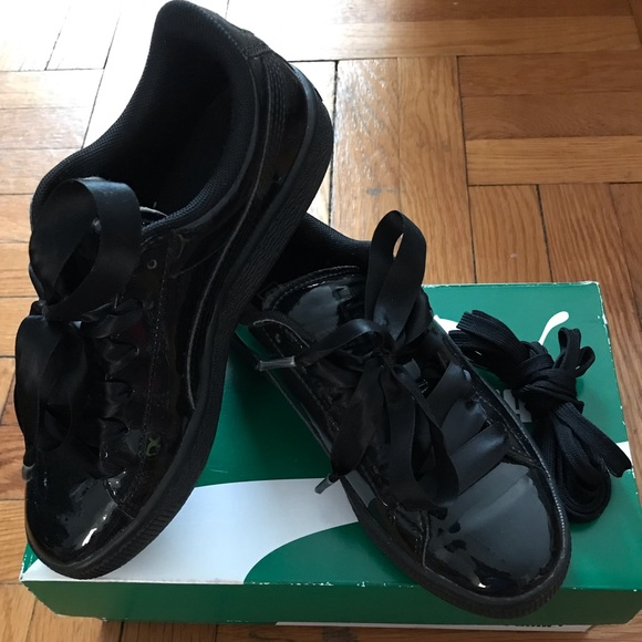 promo code d060d b414a Puma Basket Black Patent Leather Sneakers